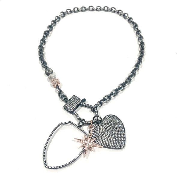Suzy's Stunning Shield Love Necklace