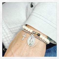 Mary's Diamond Cross Bracelet