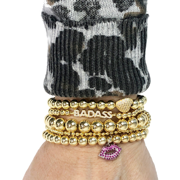 Adorable Lips Charm Bracelet