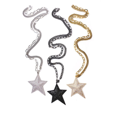 Lisa's Sparkling Star Necklace