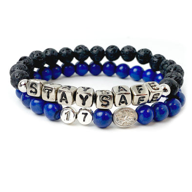 MEN'S Saint Michael Patron of Police Officer Protection Bracelet