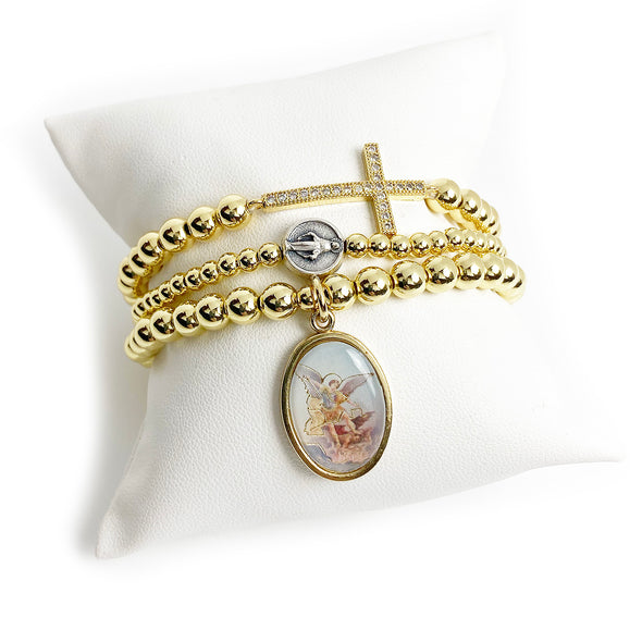 3 Bracelet Collection of St. Michael The Archangel