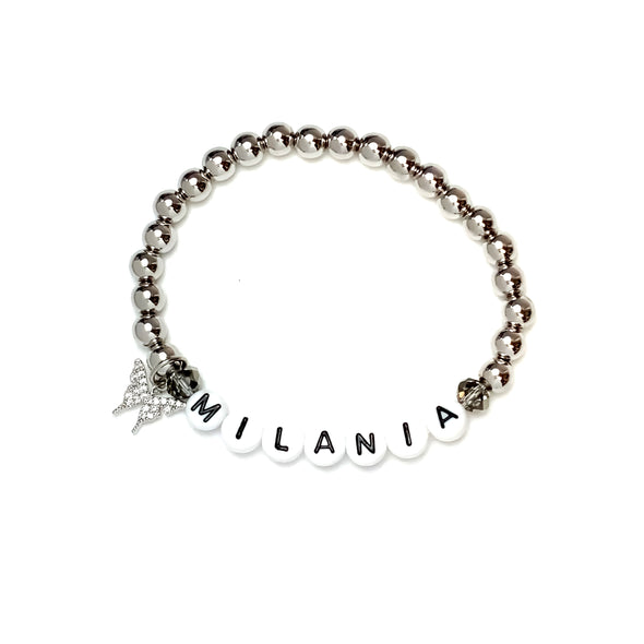 Beautiful Silver Personalized Name Bracelet