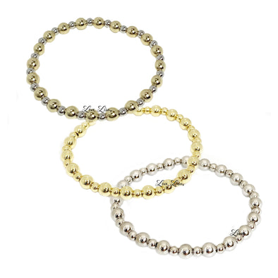 Stacy's Trending Plain Beaded Stretch Bracelet