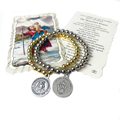 Mary's St. Christopher United States Navy Bracelet