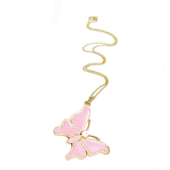 Kellie's Enamel Butterfly Necklace