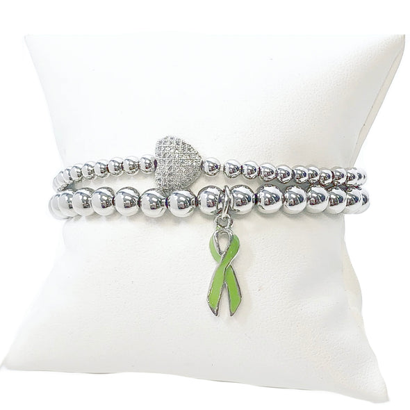 PANDAS & PANS Awareness Ribbon & Love Bracelet