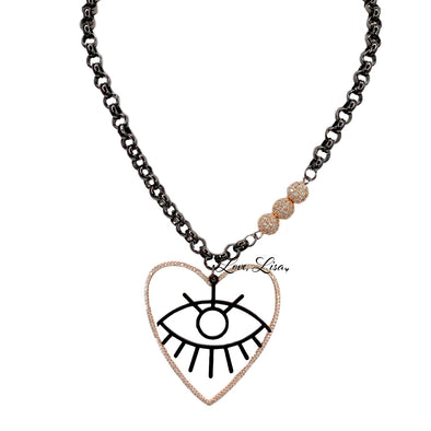 Elle's Glam Love Eye Necklace