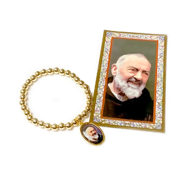 Incredible Padre Pio Beaded Bracelet
