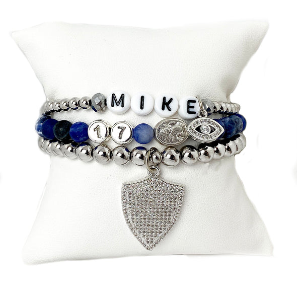 Saint Michael Patron of Police Officer Protection Bracelet