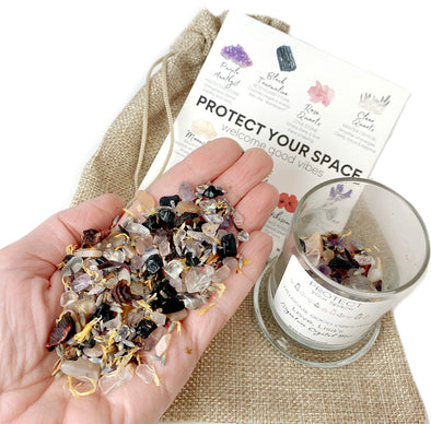 Protect Your Space & Welcome The Good Vibes Signature Crystal Mix