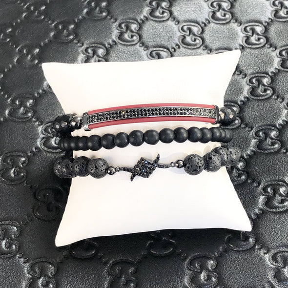 Andrew's Leather Tranquility Bracelet