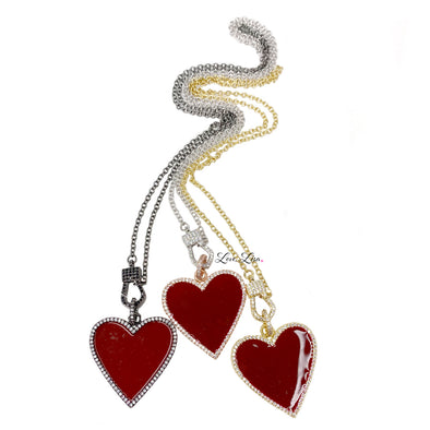 Lina's Red Heart Love Necklace