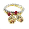 Faye's St. Therese's Red Rose Beaded Bracelet