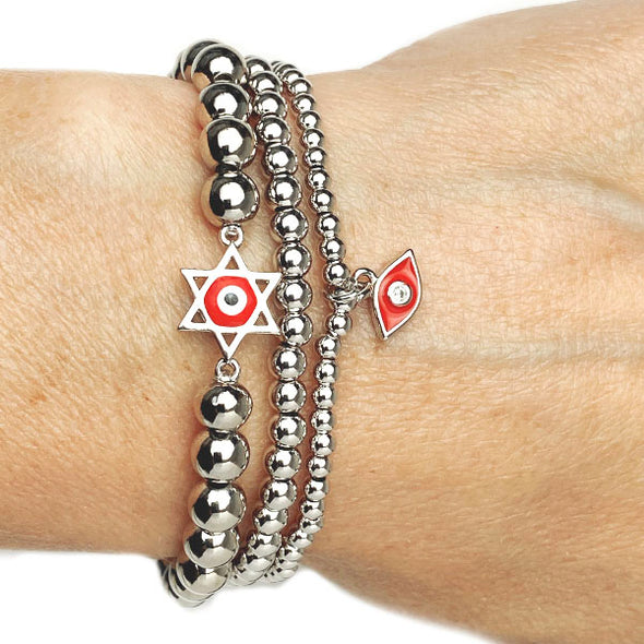 Red Eye Star Of David Bracelet