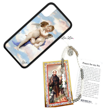 St. Francis Protect My Pet Beaded Phone Strap