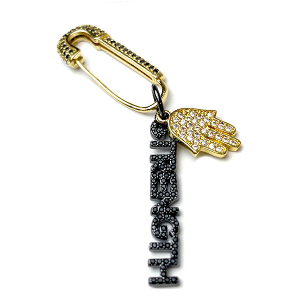Safety Pin Strength Hamsa Pin