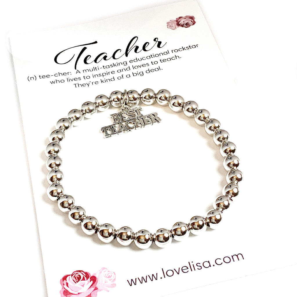 The BEST Teacher Gift Bracelet