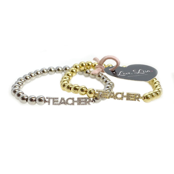 Lisa's Favorite Saying Teacher Bracelet