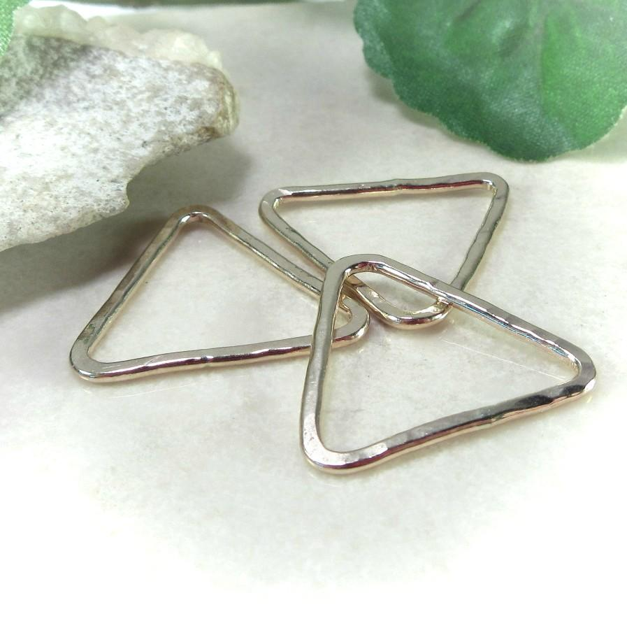 Triangle Shapes Gold, Silver and Pink Gold for making jewelry