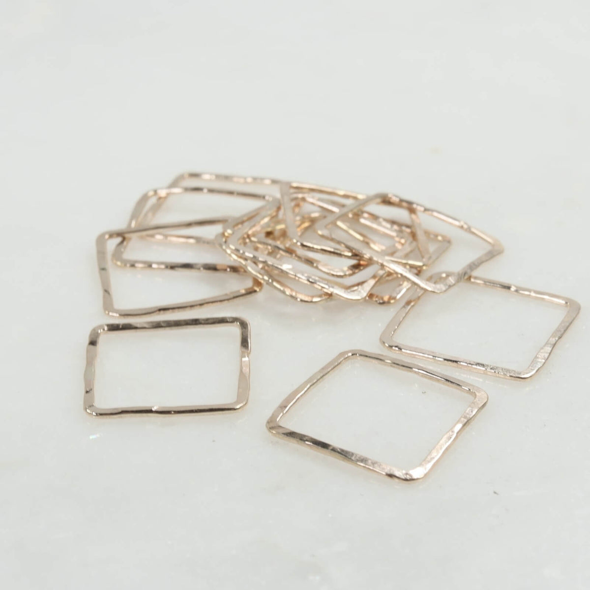Gold squares for jewelry making