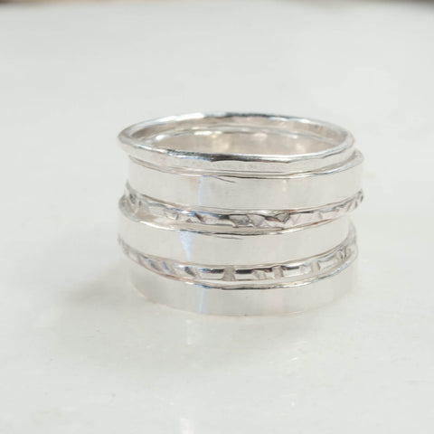 stacking ring stamping blanks silver