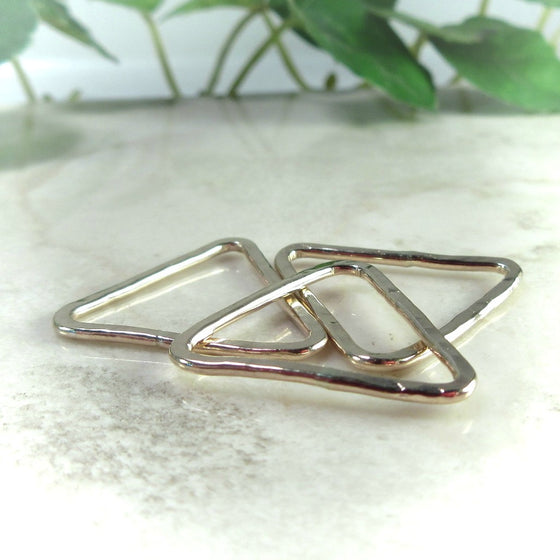 pink gold 8mm triangles for making jewelry