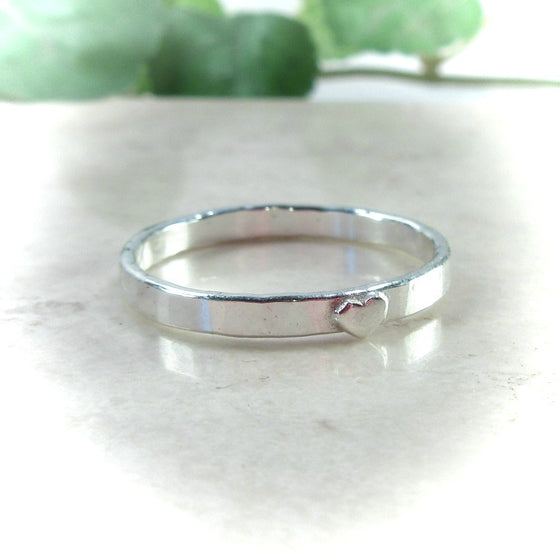hand stamp ring blank with heart