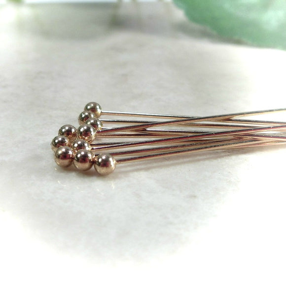1 inch ball head pins in gold