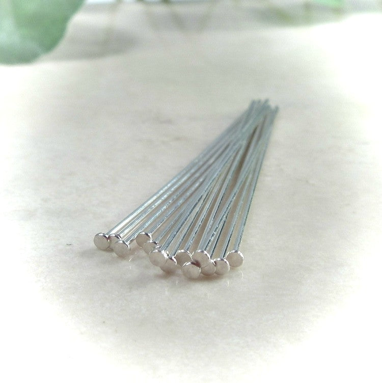 flat head pins sterling silver