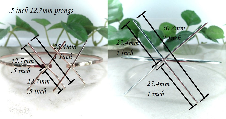 prong lengths for raw gemstone braclet setting