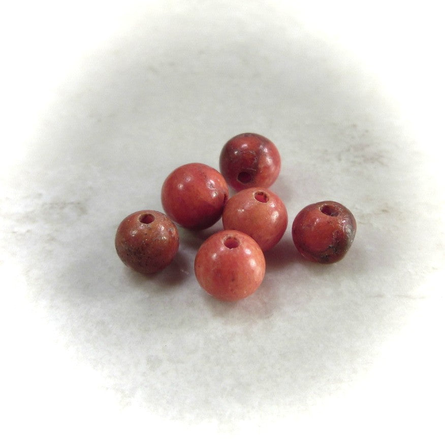 Apple Coral Beads 4mm Round - 25pcs