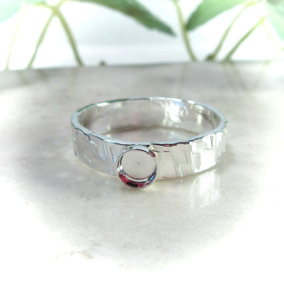 chiseled bezel cup ring setting 3mm wide