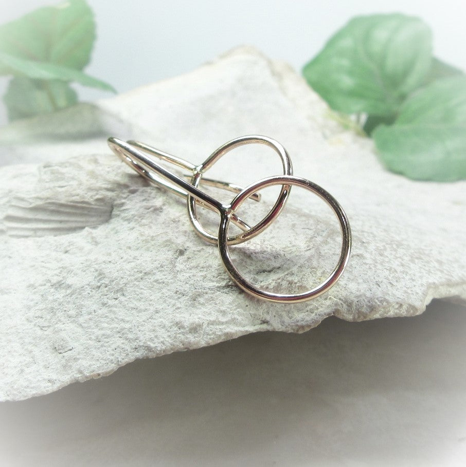 fancy ear wires for jewelry making in gold silver or pink gold