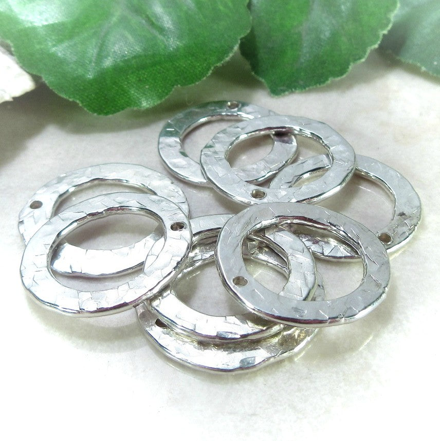 washers in silver for jewelry making
