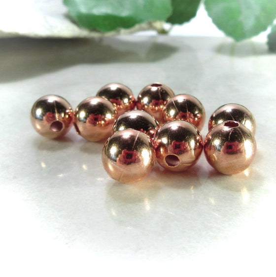Copper Beads 8mm Round -25pcs