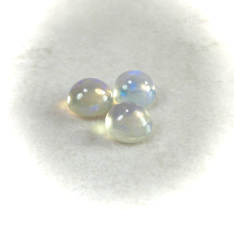2MM to 8MM AAA Quality Natural Ethiopian Opal Round Shape cabochon for jewelry