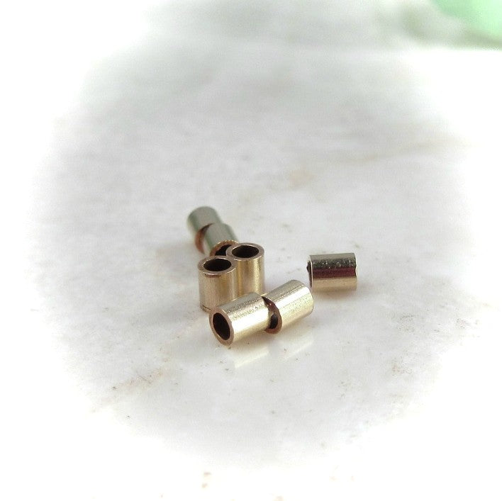 Crimp Beads  Silver, Gold or Pink Gold - 25pcs