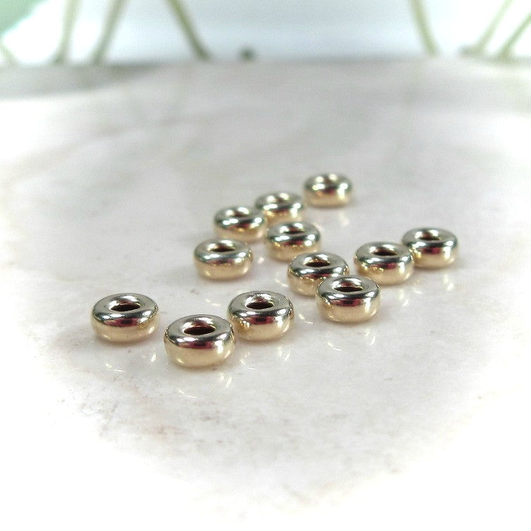 gold barrel beads 4mm
