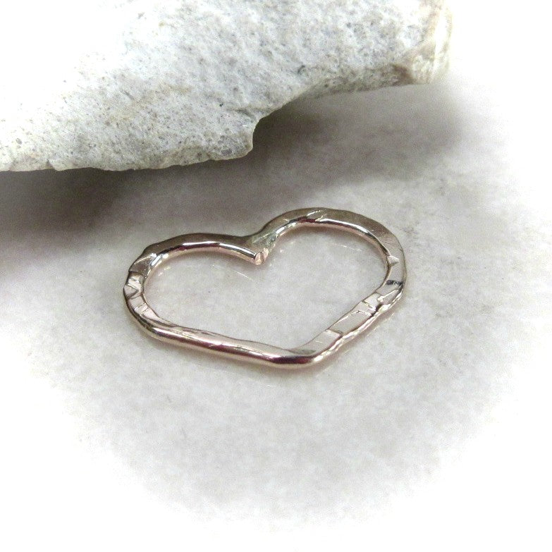 open heart for jewelry making