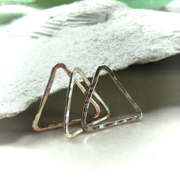 10mm gold triangles