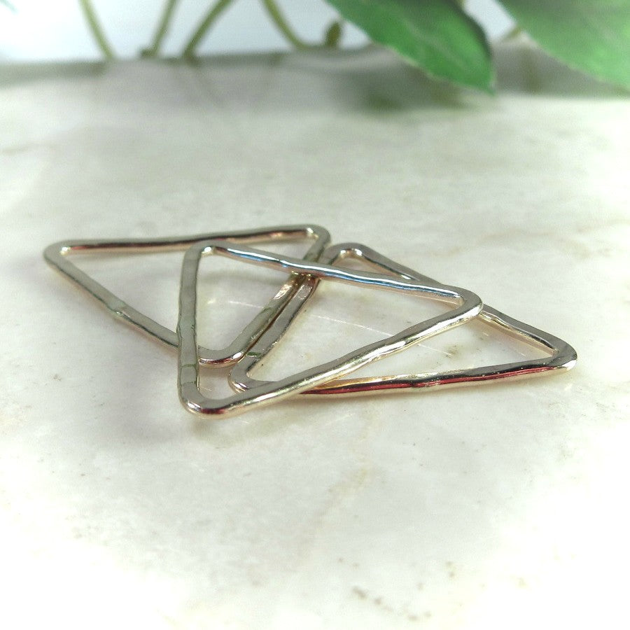 gold triangles for earrings