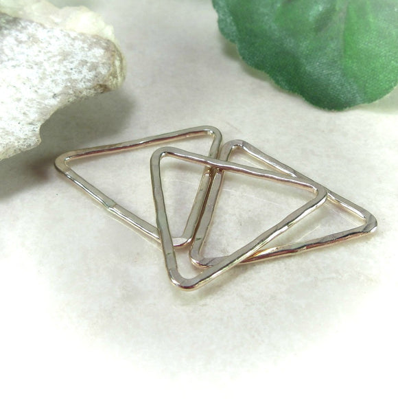 gold triangles for necklaces