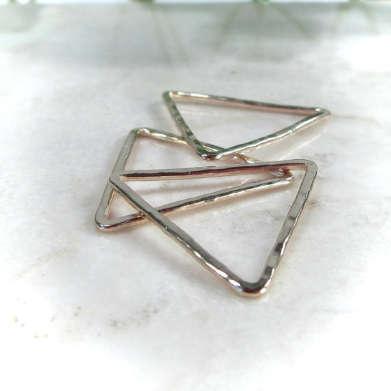 triangle connectors for jewelry making