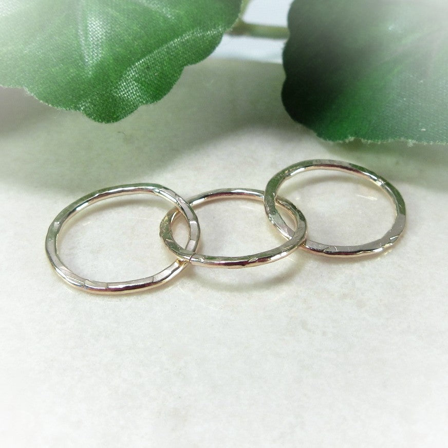 three circles connected to make earrings