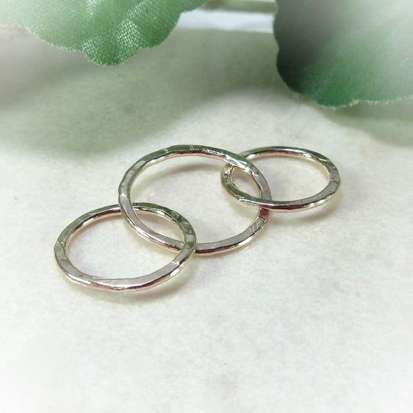 pink gold circle links for earrings