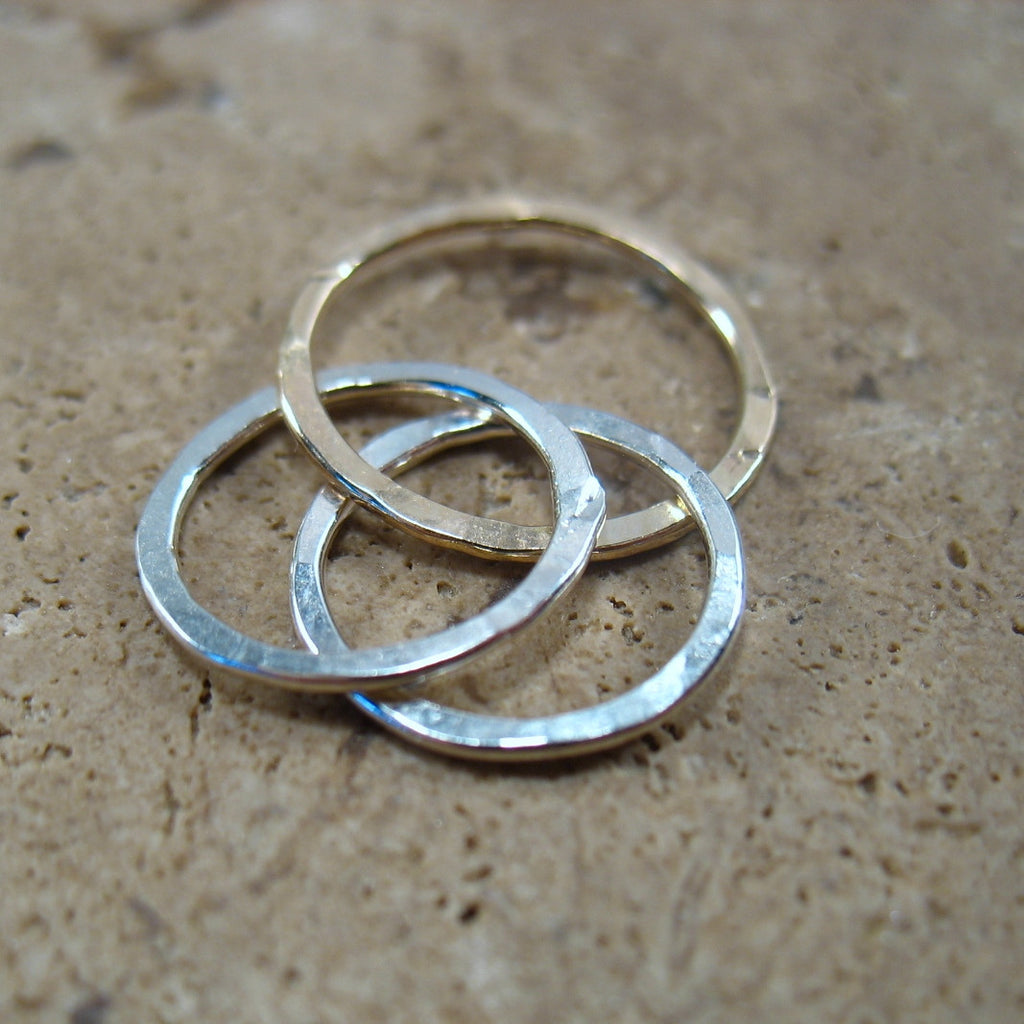 silver 10 mm links with gold 12 mm circle
