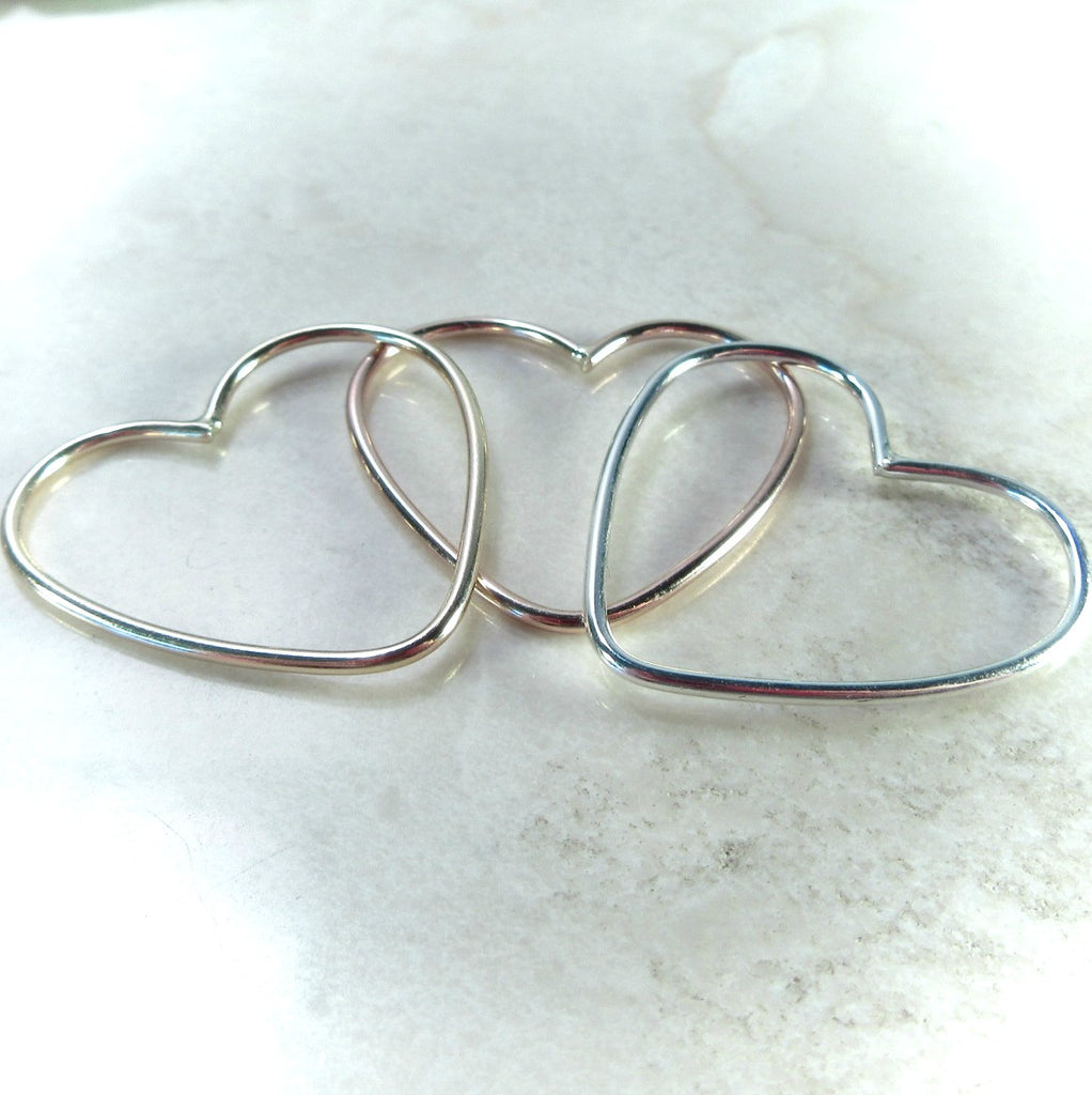 heart shapes for jewelry making 27mm