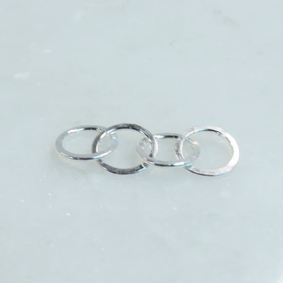 4 circles linked together silver