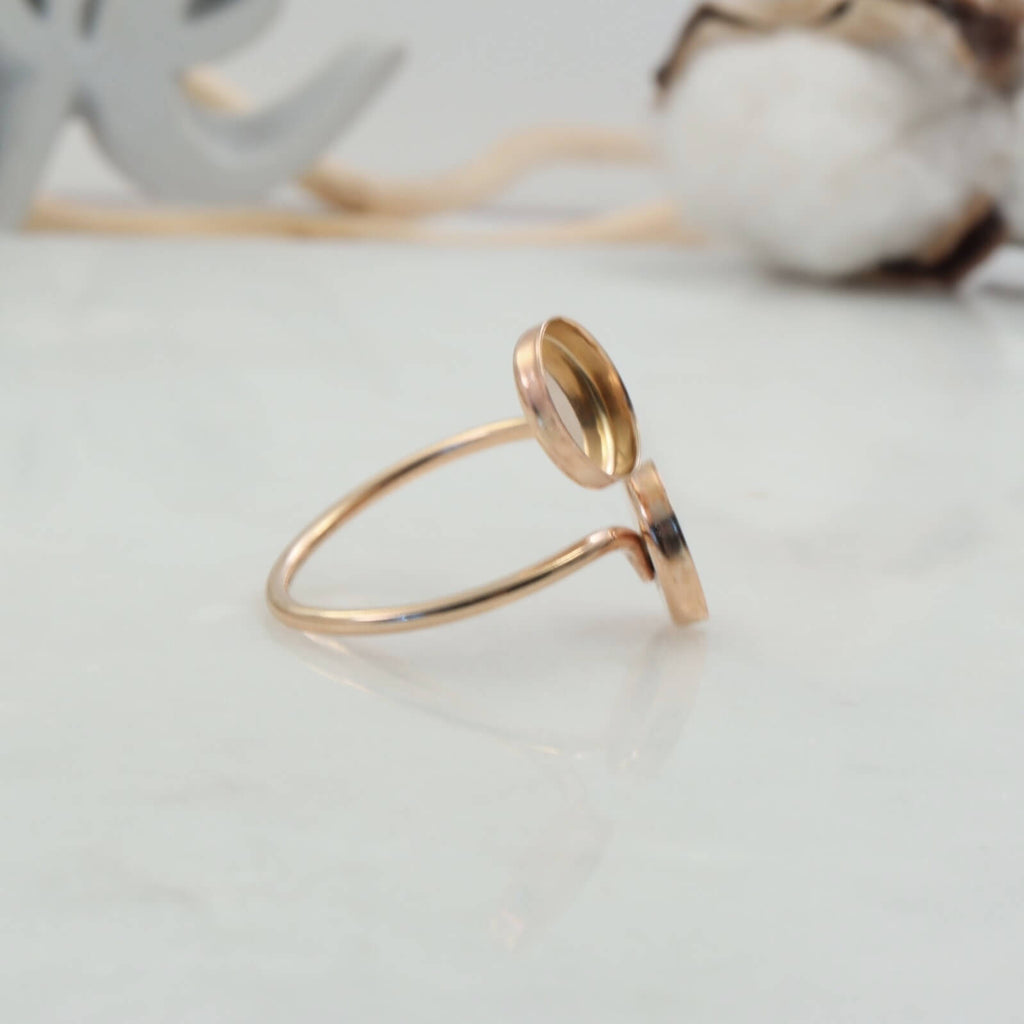 bezel cup ring blank in gold